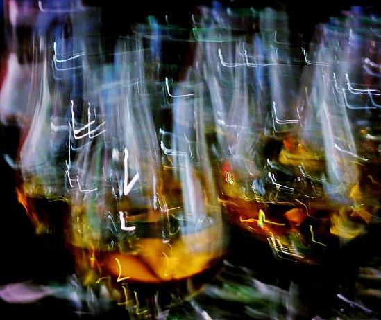 En provning av Irish Whiskey kräver många glas