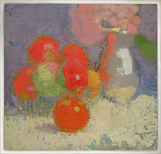 Fiint! Inte bara fantastiska självporträtt, utan även charmerande stilleben.  De röda äpplena (1915)