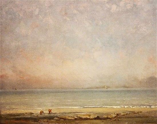 Gustave Courbet: La plage à Trouville (1865)