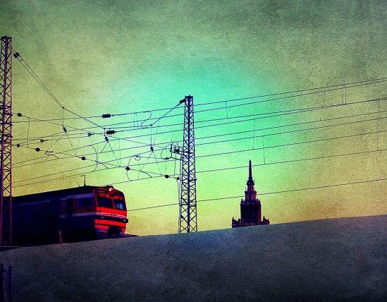 """Jodå, även Riga har sin Stalinskrapa, hem för Lettlands Vetenskapsakademi. I folkmun benämnd """"Stalins födelsedagstårta"""""""