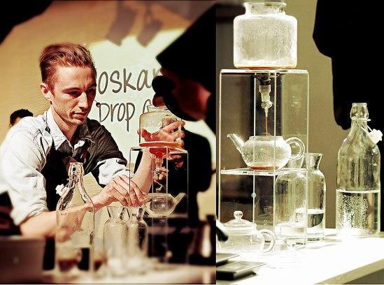 Oskar Alvérus egenkomponerade kaffedrink kräver en smärre labutrustning…