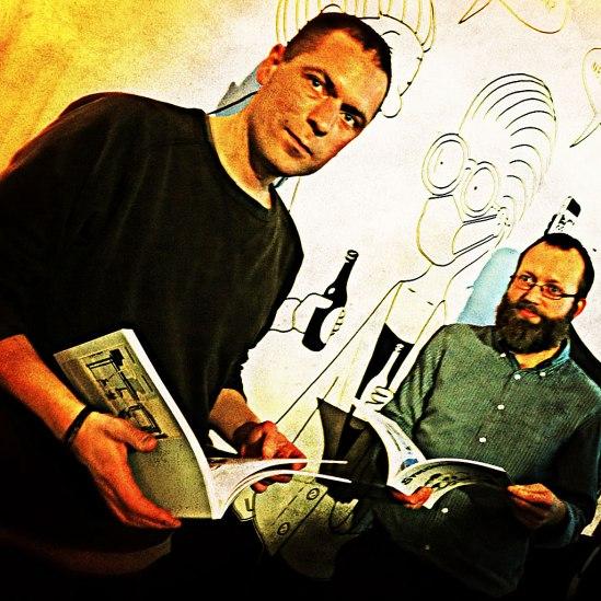 Duon bakom den tecknade samtidsskildringen, Stefan Thungren & Pelle Forshed, med nya boken.