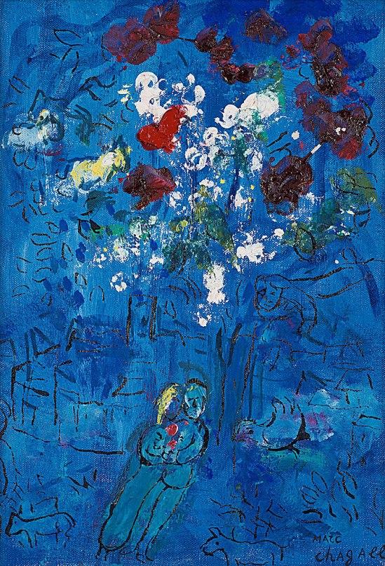 """Fin! Marc Chagalls lilla Le Bouquet au-dessus de Vence"""""""