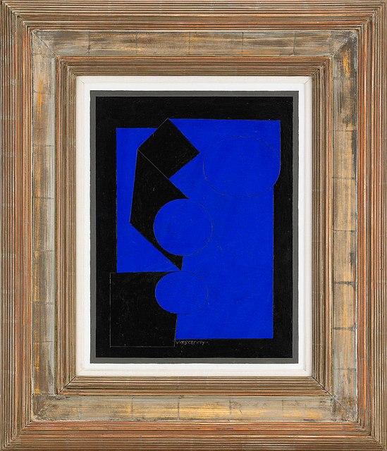 Snygg komposition, en ovanlig Victor Vasarely: Bailkal (1954, 250' kr)