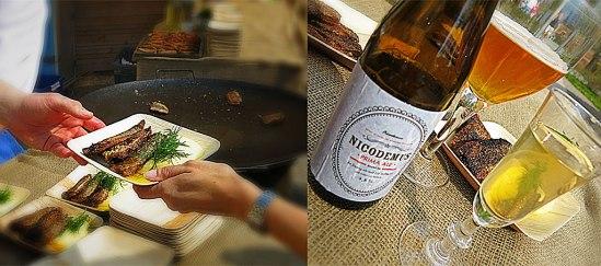 Strömmingsflundrorna är fyllda med den prisbelönta Skeppsholmssenapen och dill. Mandelpotatispurén är gjord på passerat smör och gräddmjölk. Medan snapsglaset innehåller Amiral Flemming, hemkryddad renat med krydd- & vitpeppar, muskot, vanilj, socker, kardemumma Strömming fylld med den egengjorda Skeppsholmssenapen och dill, mandelpotatispuré med passerat smör och gräddmjölk