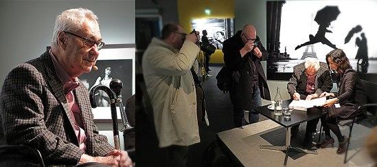 I sökarna för andra fotografers aktning - Mäster med sin tuta på käppen.