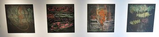 Kvadratiska målningar av Per Kirkeby