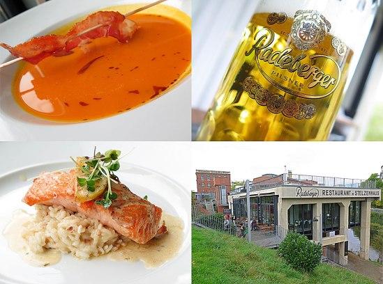 Lunch på Restaurant Stelzenhaus, Leipzig-Plagwitz (i närheten av Spinnerei)
