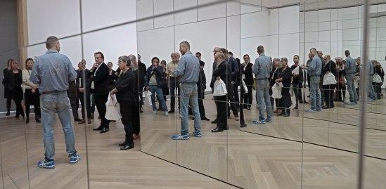 Den idag nyprisade själv vid pressvisningen på Moderna Museet, okt. 2012
