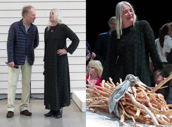 Kvinnan på ön in da house! Presenterad vid förhandsvisningen av konsthallschefen Bo Nilsson.