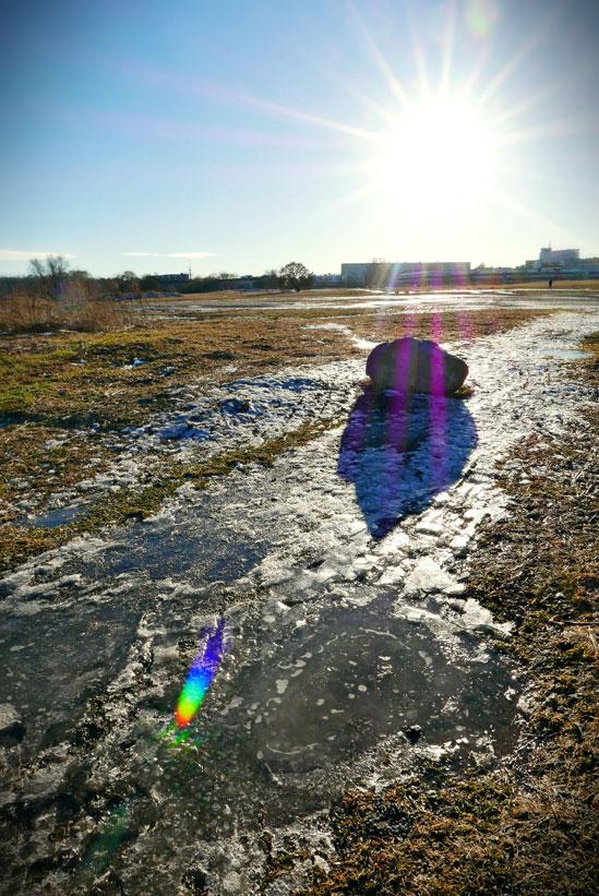 Ännu är det vinter i luften men solen strålar vår