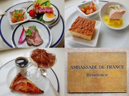 spisades hemma hos den franske ambassadören